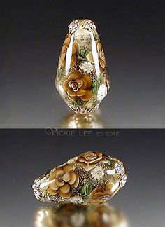 Amber Floral Teardrop Focal- by Vicki Lee. This links to her website that contains many inspirational focal beads for sale.