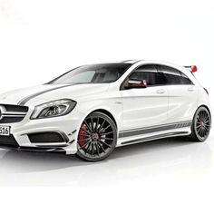 1 pair auto side skirt car sticker car hood roof racing stripe for Mercedes-Benz