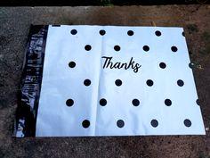 Mailing Envelopes, Arts And Crafts Supplies, Black Dots, Cursive, Biodegradable Products, Adhesive, Seal, Thankful, Strong