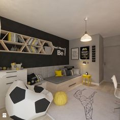 Pokój dla juniora by living box is part of Teenage room - Find home projects from professionals for ideas & inspiration Pokój dla juniora by living box homify Soccer Bedroom, Boys Bedroom Decor, Bedroom Themes, Girls Bedroom, Soccer Themed Bedrooms, Box Room Bedroom Ideas For Kids, Boy Bedroom Designs, Soccer Room Decor, Room Boys