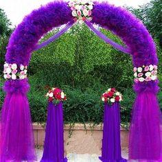 Efavormart Decorative Metal Wedding Arch - White - Image 3 of 6 Wooden Wedding Arches, Metal Wedding Arch, Metal Arch, Wedding Ceremony, Our Wedding, Wedding Stage, Wedding Blog, Wedding Gazebo, Diy Gazebo