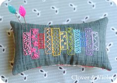 Clover and Violet: Embroidered Washi Pincushion