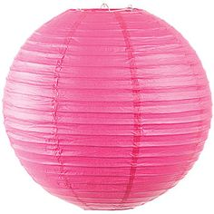 The Hot Pink 12 Inch Round Lantern will go perfectly with all your decorations. These 12 inch hot pink paper lanterns are collapsible and reuseable.
