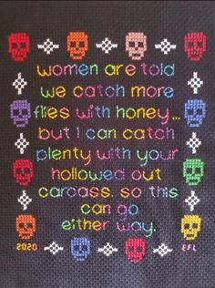 Cross Stitching, Cross Stitch Embroidery, Cross Stitch Patterns, Cross Stitch Quotes, Needlepoint, Etsy Shop, Crafty, Words, How To Make
