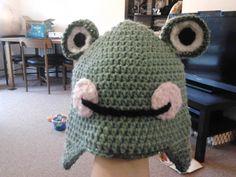 Crochet Frog hat for niece