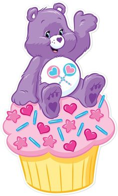 Care Bears Share Bear On Cupcake - Walls 360