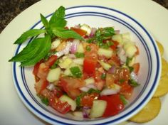 Cucumber salad with fresh mint -yum! Great summer salad w fresh flavors.