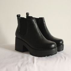 ☆ black chunky ankle boots ☆ · jessica woods · Online Store Powered by Storenvy