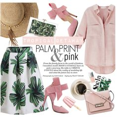 Tropical getaway by punnky on Polyvore featuring moda, French Connection, Charlotte Olympia, Flora Bella, Milly and Christian Dior