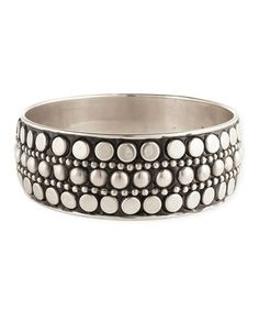 Another great find on #zulily! Silver Dome Stud Bangle by ZAD #zulilyfinds