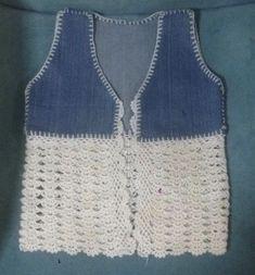 Crochet Yoke, Crochet Skirts, Crochet Blouse, Easy Crochet, Crochet Stitches, Crochet Baby, Knitting Patterns, Crochet Patterns, Crochet Decoration