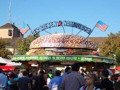 American Burgers at Volksfest in Stuttgart