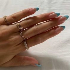 Simple Acrylic Nails, Best Acrylic Nails, Simple Nails, Stylish Nails, Trendy Nails, Acylic Nails, Nagellack Design, Nagellack Trends, Nail Jewelry