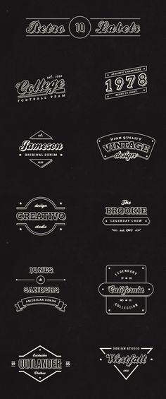 This pack includes ten free vintage retro labels and classic logos. Each design was hand-crafted in Photoshop and usable in any type of design work.