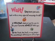 dr seuss baby shower game ideas | Photo 5 of 38: Dr. Seuss / Baby Shower/Sip & See Shaynes Baby Shower ...