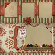 Awesome vintage scrapbook layout. It would make a great heritage page.