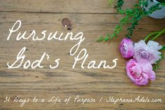 31 Days of Living on Purpose - Pursuing God's Plans