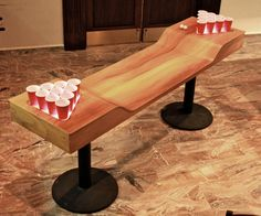Custom Light Up Beer Pong Tables Add A Little Taste To The Game.