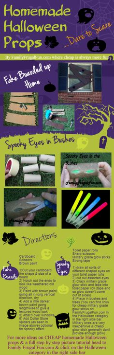 Are you ready to make some CHEAP yet spooky homemade Halloween props this year? These costs less than $1 to make! Happy Hauntings! ☺