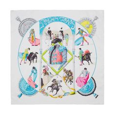 This iconic Hermes scarf is made from luxurious silk twill immaculately screen printed with the Plaza de Toros design. The print was first created in 1993 by Hubert de Watrigant.