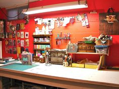 Another view of my studio...on a day when the work table is all cleaned up! | Flickr: Intercambio de fotos