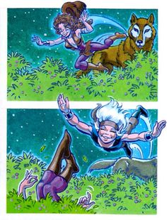 Skywise and Brownberry. Elfquest