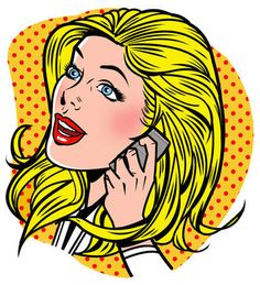 blonde answering phone - Buscar con Google