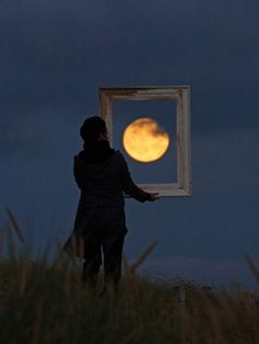 A good title for this could be 'Framing the Moon', perhaps. What title would you give to it? I love the inspirational images and quotes on this site - Joie De Vivre #inspiration #moon #art