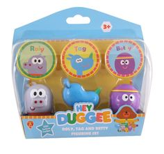 Hey Duggee Tag, Roly and Betty Figurine Pack & Badges