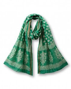 Mint Pattern Scarf