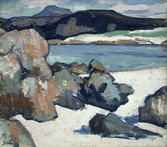 Scottish artists - The Scottish Colourists Landscape Artwork, Abstract Landscape Painting, Seascape Paintings, Abstract Art, Landscape Rocks, Paintings I Love, Beautiful Paintings, Gallery Of Modern Art, Art Plastique