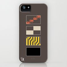 Deconstructed Maryland flag iPhone case