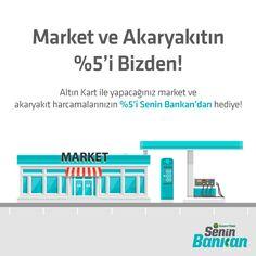 Market ve Akaryakıtın %5'i Bizden!