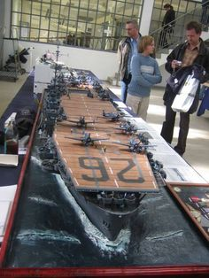 1 350 Wwii Us Navy Aircraft Carrier Airplane Set 2