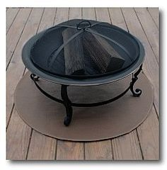"""Goods Of The Woods 30"""" Round High Temperature Grill Mat 12004 Brown by Goods Of The Woods. $57.29. Ribbed Design On Bottom Aids In Drying Moisture Under The Mat.. Can be used with Gas Grills, Charcoal Grills, Fire Pits, and Chimineas.. Fire Resistant Fiberglass Core With High Temperature Silicone Face And Back.. Black, Brown, or Green Finish.. Crafted with Silicone Surface that is Abrasion Resistant, UV Protected, and Easily Cleaned.. Protect your deck or patio in..."""