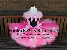 Pink Hot pink minnie inspired  Costume by FunkidsandUsBoutique