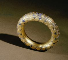 Gold bracelet from the tomb of Psusennes I, one of 22 bracelets found on the king's arms