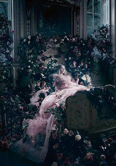 Disney Princesses at Harrods- Sleeping Beauty by Elie Saab