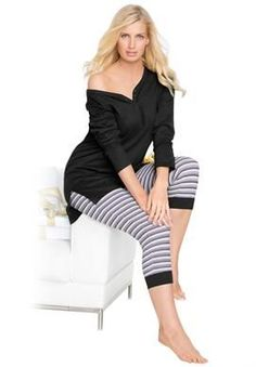 2-piece capri legging pj set by Goals & Co.®. *** See more at the photo