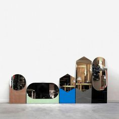 Shapes Mirror Hexagon by Hay Denmark Industrial Office Design, Cool Mirrors, Mirror Mirror, Long Mirror, Magic Mirror, Beautiful Mirrors, Blue Mirrors, Hexagon Shape, Shape Design
