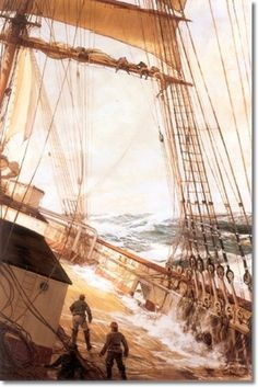 Montague Dawson - Up Aloft  | Up Aloft. BR West wall