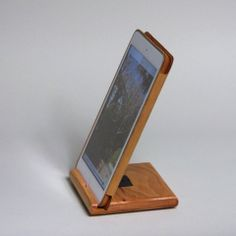 iPad Air Accessories : Adjustable iPad Air Stand in Cherry.  Available at http://schuttenworks.com