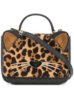 Kate Spade leopard print cat mini bag