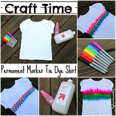 Lipgloss and Onesies Blog: {Craft Time} DIY Permanent Marker Tie Dye