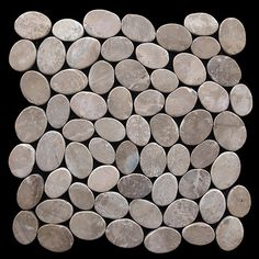Found it at Wayfair - Coin Random Sized Natural Stone Pebble Tile in Tan