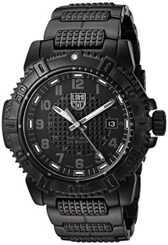a3db3a7ebf5 Luminox Mens Modern Mariner Swiss Quartz and StainlessSteelPlated Automatic  Watch ColorBlack Model 6252BO    See