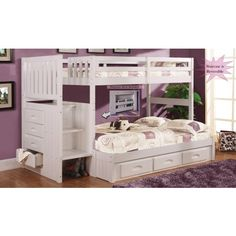 The Dakota Twin Over Full Bunk Bed Features A Traditional Craftsman