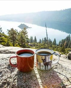 Coffee for two Coffee And Books, I Love Coffee, Good Morning Coffee, Coffee Break, Coffee Photography, Camping Life, Lake Life, Adventure Is Out There, Outdoor Camping
