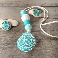 Just in time for summer here in Australia, this gorgeous summery necklace will be in the shop today. The beach was my inspiration for this one. And if it's not summer where you are this piece will certainly help take you back to summer memories Link in profile.