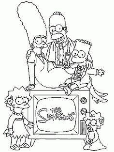 Die Simpsons 9 Ausmalbilder